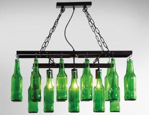 Lampadario Bottiglie